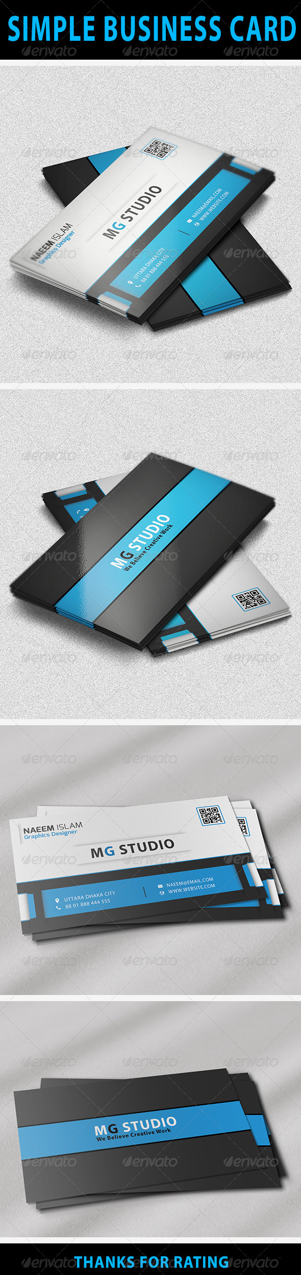 Simple business card simple business card features easy to edit optimized for printing 300 reheart Images