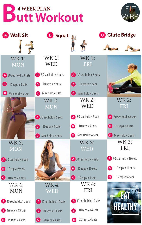 Best Butt Exercises For Women 4 Week Butt Workout Plan