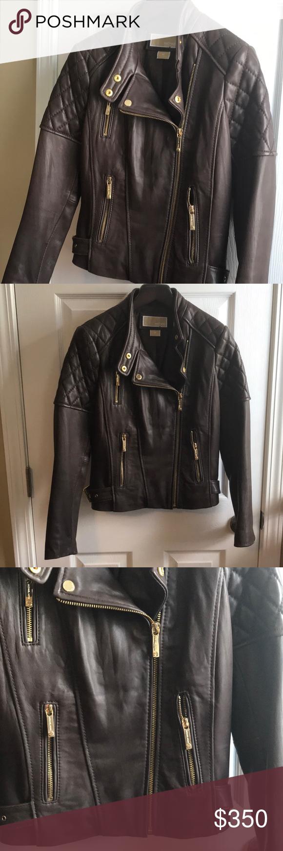 Michael Kors Leather Jacket Leather Jacket Michael Kors Michael Kors Jackets [ 1740 x 580 Pixel ]