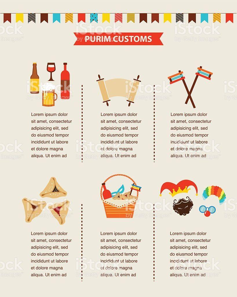 Symbols of jewish holiday purim infographics design symbols of jewish holiday purim infographics design biocorpaavc