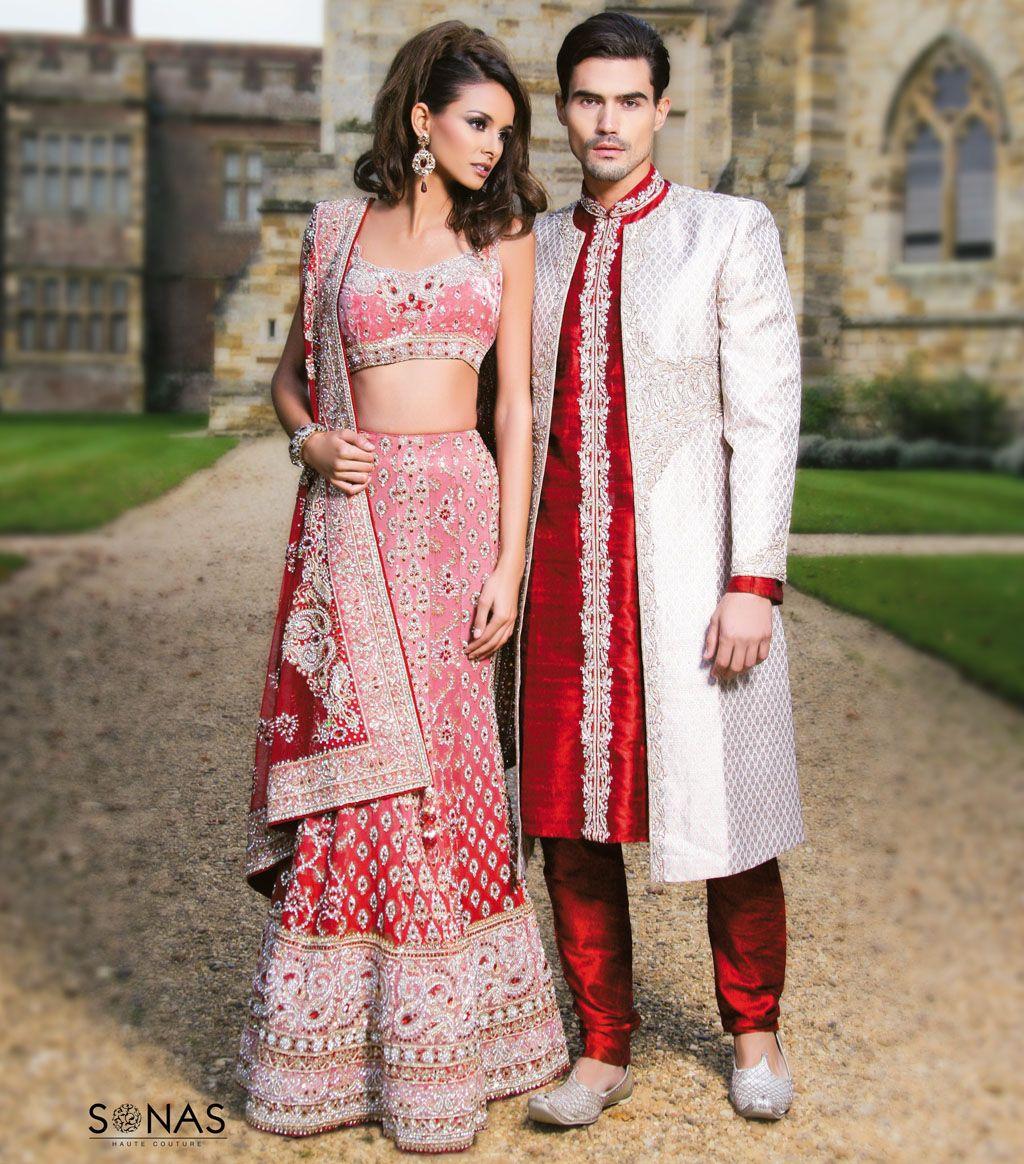 Salmon Pink/Red Bridal lehenga #indianwedding #shaadibazaar | Indian ...