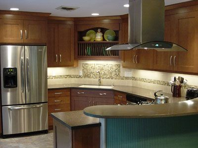 images about marie  scott's kitchen on,Kitchen Backsplash Glass Tile Brown,Kitchen decor