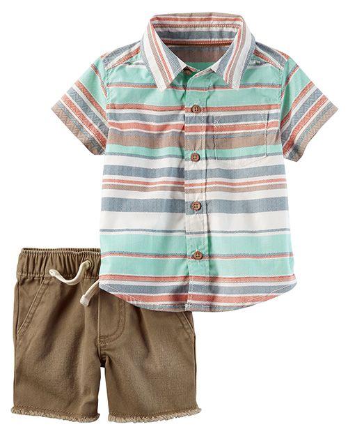 68eb220f1 Moda primavera verano 2018 ropa para bebés. Carter s ropa para bebés  primavera verano 2018. Camisas para bebes 2018.