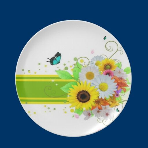 Happy Daisies Plate