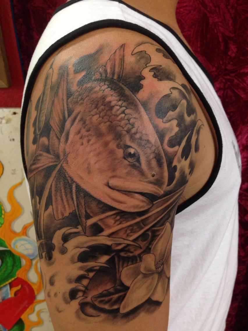 My Redfish Tattoo Tattoos For Guys Sleeve Tattoos Tattoos