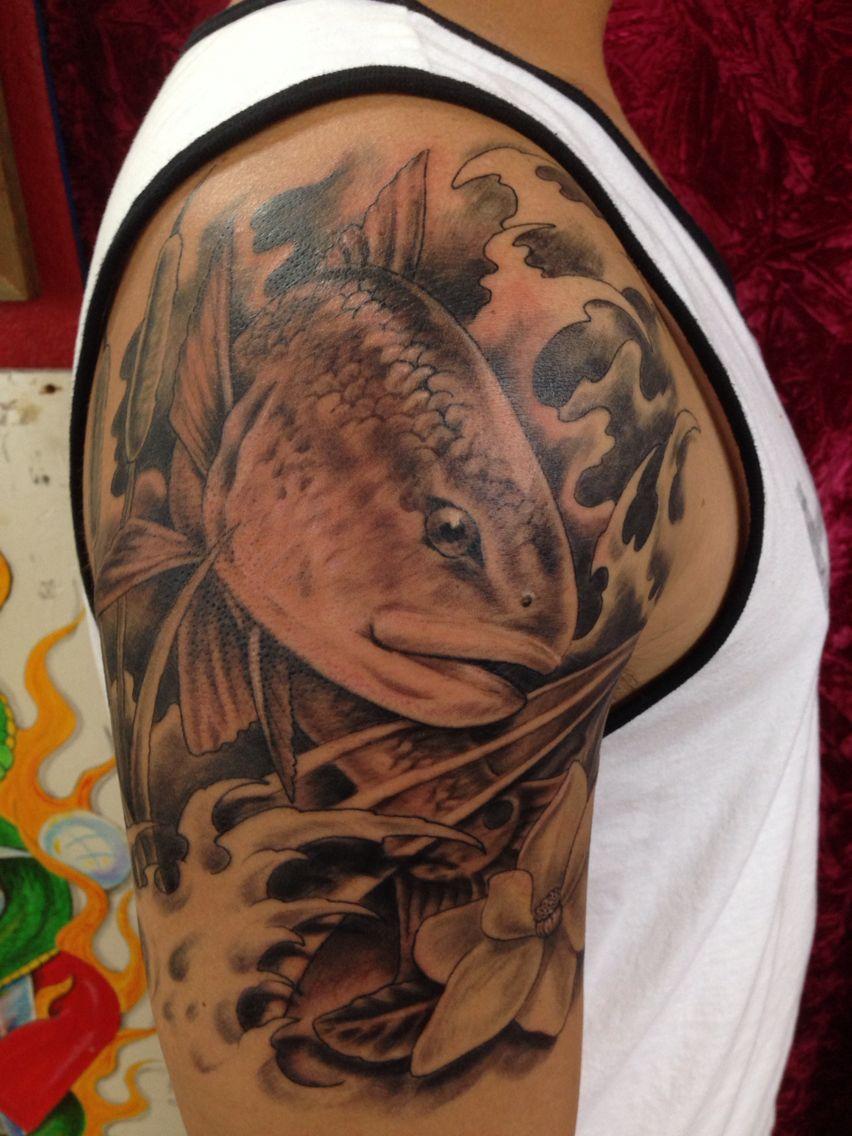 My redfish tattoo fish tattoo ideas pinterest tattoo for Fishing tattoos designs