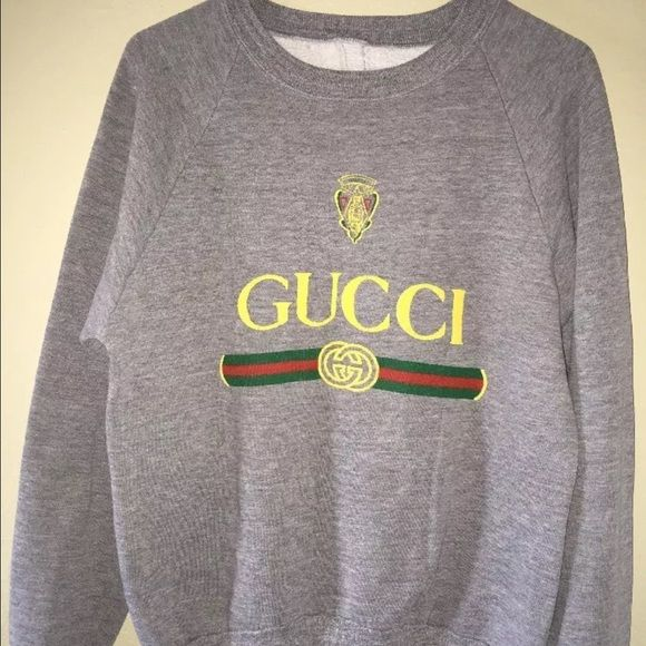 """Retro Vintage Gucci Crewneck Sweater -Retro Vintage """"Gucci"""" Style Sweater -No tags on jacket -Size: Medium (Men's) Snug -Very rare/classic piece for any fashionista -Similar styles retailing at $500+ -Condition: Pre-Owned 