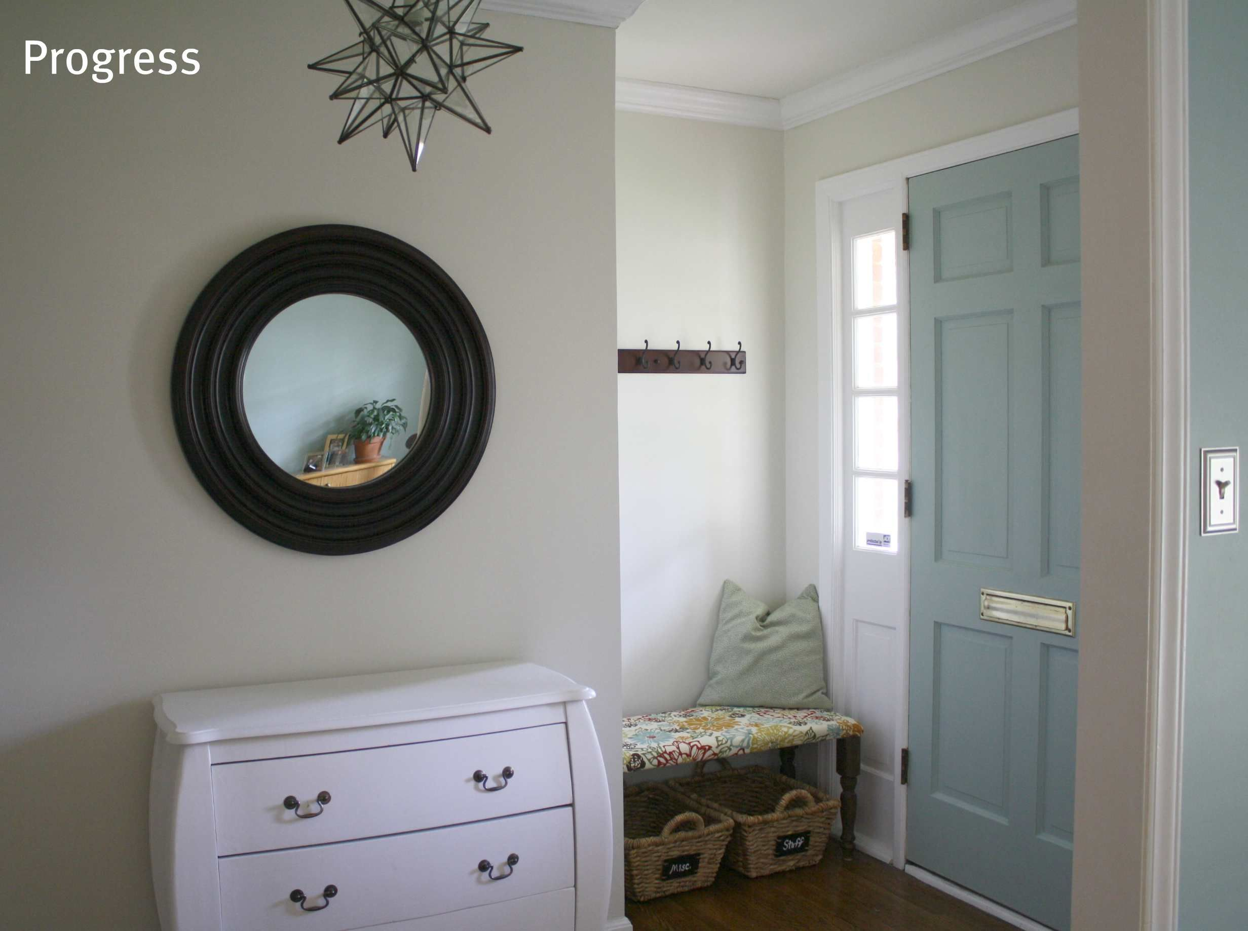 Benjamin moore natural cream - Walls Sherwin Williams Natural Choice Door Benjamin Moore Whythe Blue
