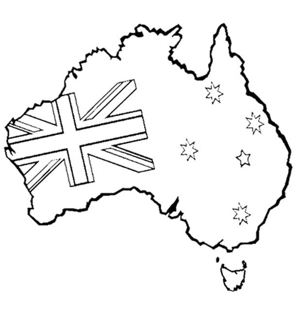 Australia Day Coloring Page Kids Coloring Pages Pinterest