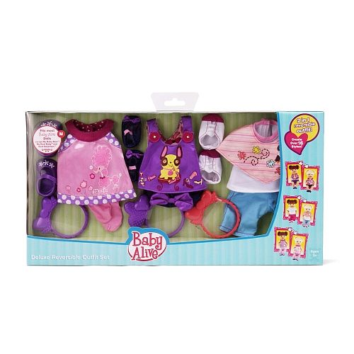 Baby Alive Clothes And Accessories Baby Alive  2 N' 1 Reversible Dress  Deluxe Reversible Outfit Set