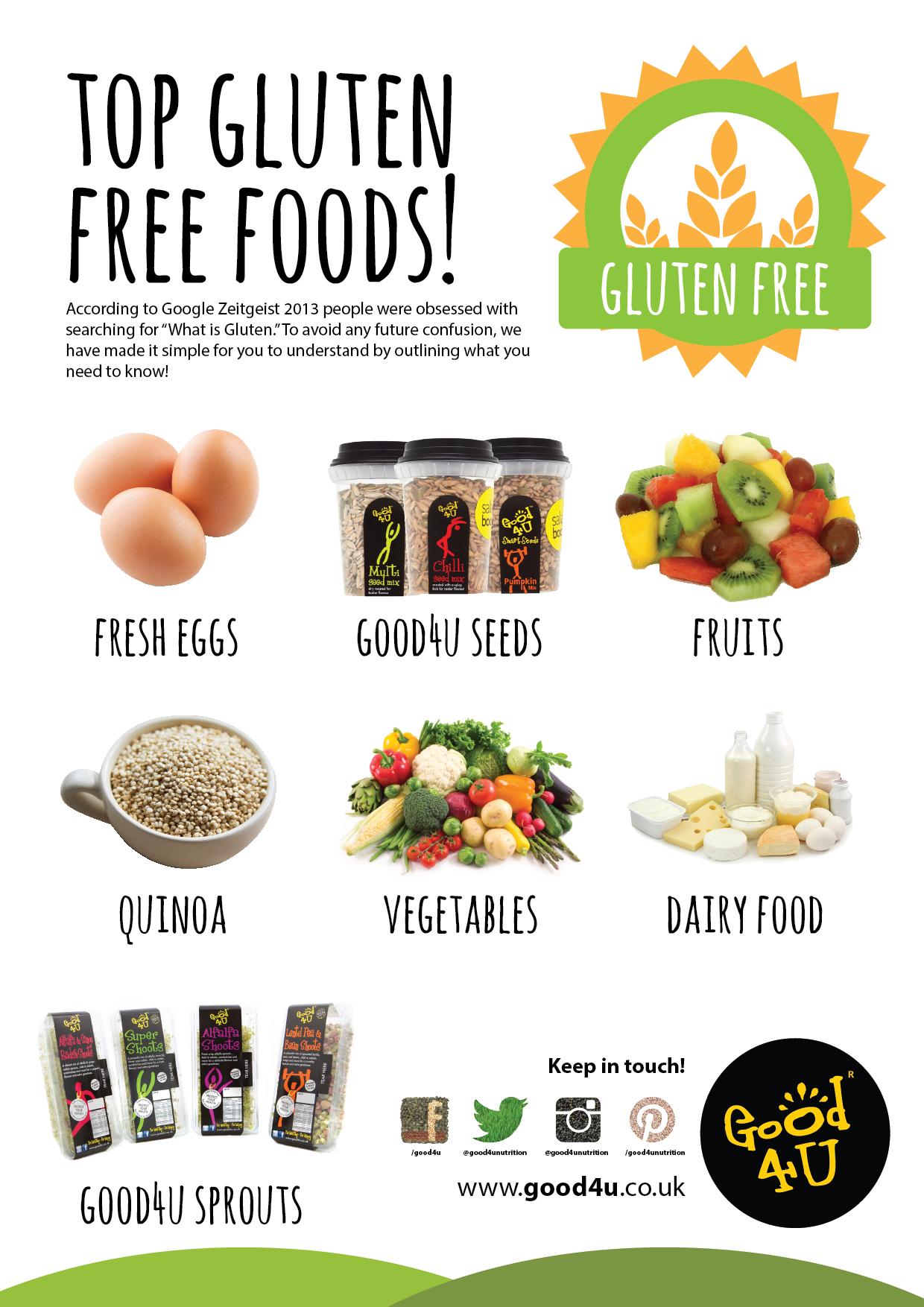 Top gluten free foods good4u infographics pinterest - Blog cuisine ss gluten ...