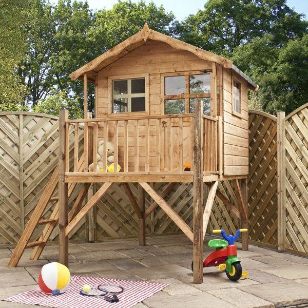 la cabane de jardin pour enfant est une id e superbe pour. Black Bedroom Furniture Sets. Home Design Ideas