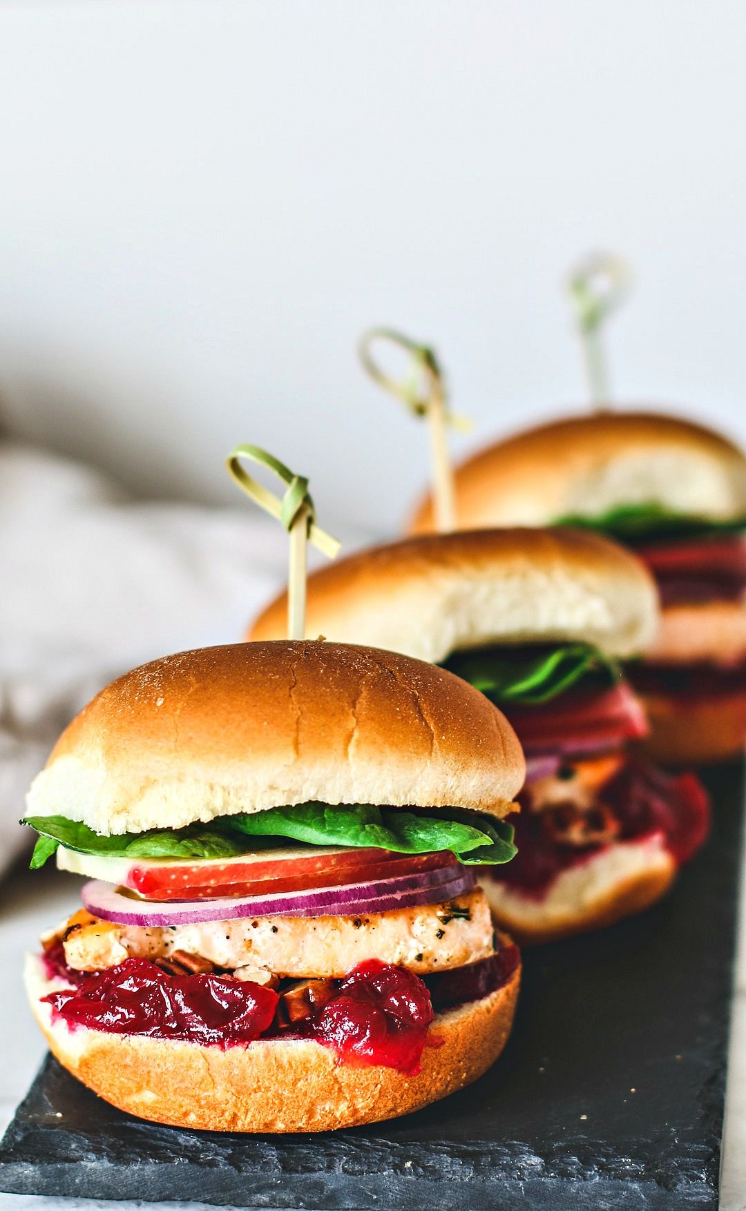 Sweet and Savory Salmon Sliders With Cranberry Sauce #cranberrysauce