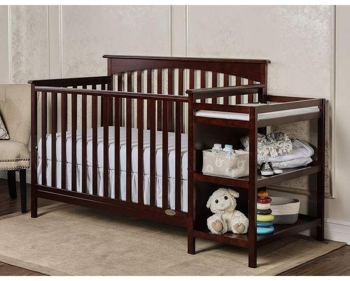 Dream On Me Chloe 3 In 1 Convertible Crib And Changer Combo Convertible Crib Cribs Baby Changing Tables