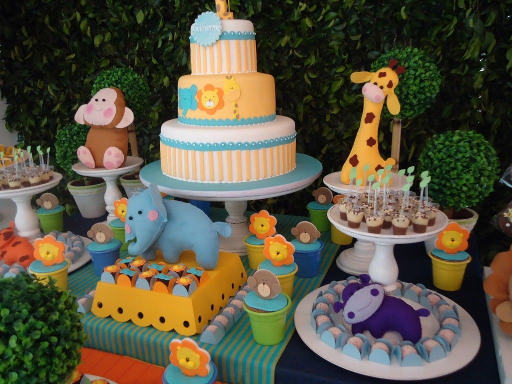 Image detail for Zoo Table Birthday Party Decoration Tips Kids