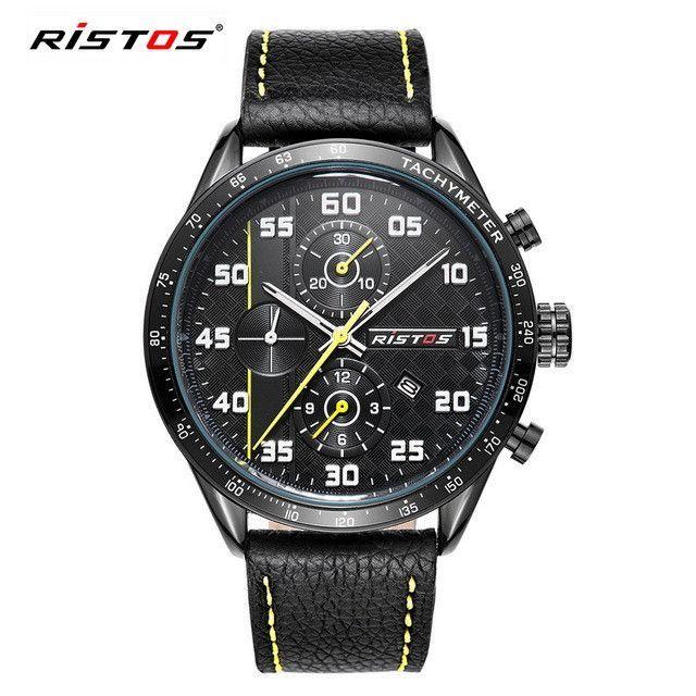 Men Watch Mens Calendar Genuine Leather Quartz Watches
