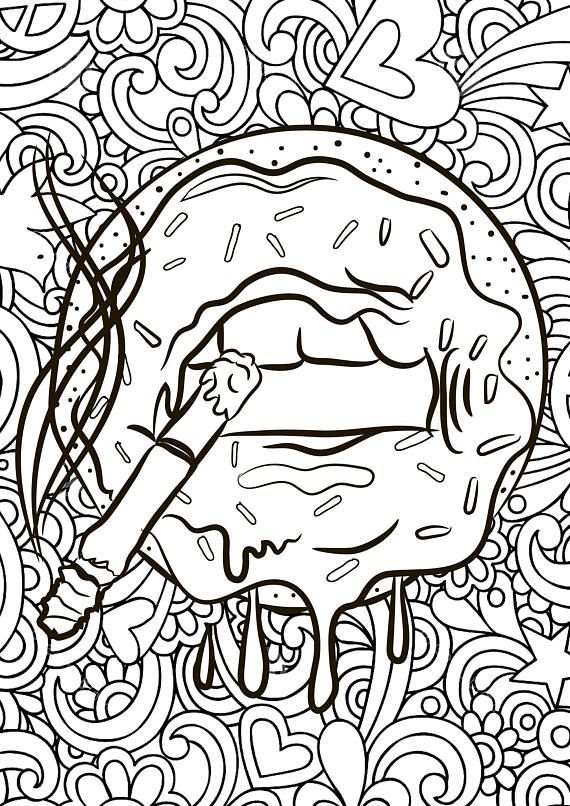 ADULT COLORING PAGES TRIPPY