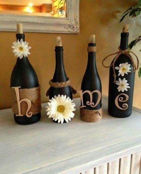 Ideas To Decorate Glass Bottles Pin💞 Jenn On Wine Bottle Crafts  Pinterest  Wine Bottle