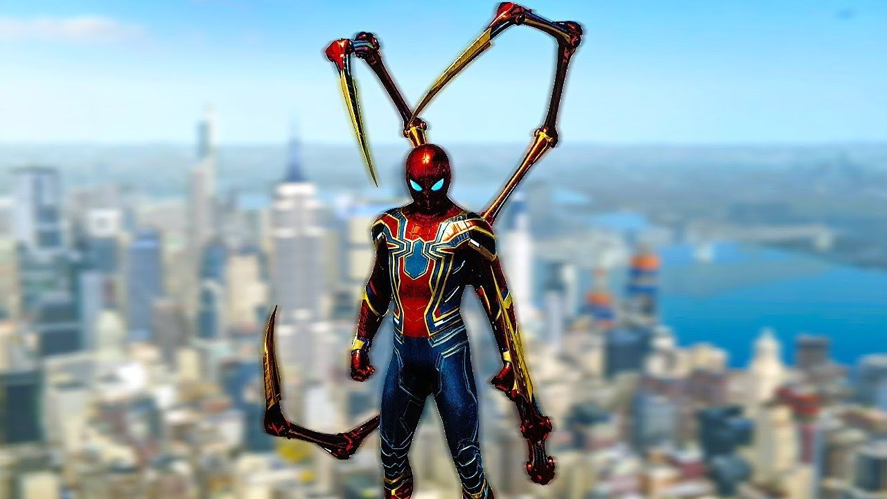 SPIDER MAN PS4 Iron Spider Suit Free Roam Gameplay