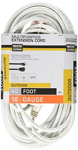 Master Electrician 0235601me 40feet Round Vinyl Outdoor Extension Cord White Learn More By Visiting The I Outdoor Extension Cord Electrician Extension Cord