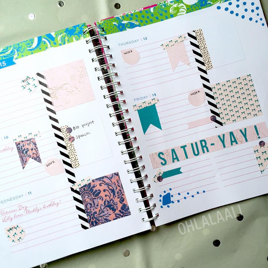 Lilly Pulitzer Planner Stickers   Horizontal Agenda Plan With Me
