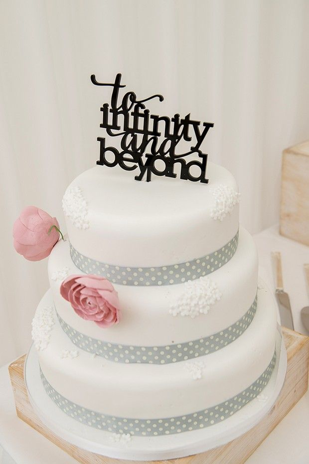 Toy Story Disney Themed Wedding Cake Topper To Infinity And Beyond