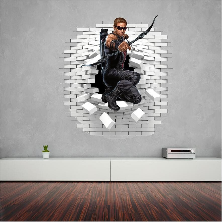 Hawkeye Wall Sticker Decal Wall Sticker Wall Decals Wall Decals And Stickers
