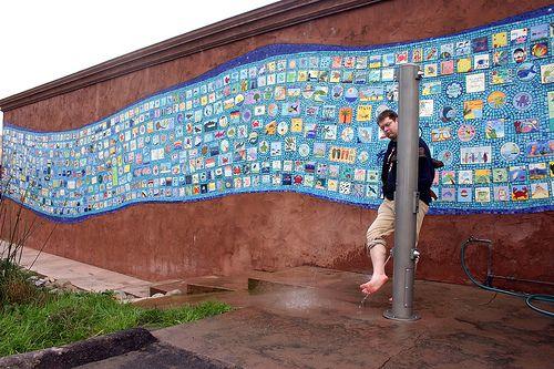Ceramic Tile Mosaic Wall Mural Rockaway Beach California