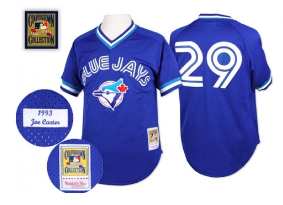 pretty nice 70ddc 13d3d Men's Mitchell and Ness Vintage 1993 Joe Carter Toronto Blue ...
