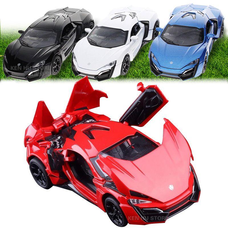 132 Kids Toys Fast Furious 7 Lykan Hypersport Mini Auto Metal Toy
