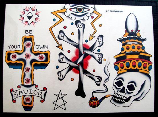 A P Shrewsbury Tattoo Flash | KYSA #ink #flash #tattoo ...