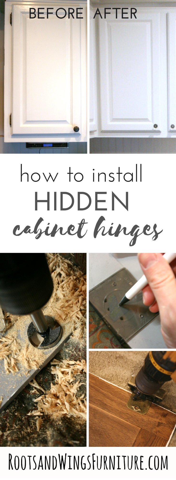 Best Kitchen Gallery: Exposed Hinge To Hidden Hinge Updating Cabi S Molding of How To Install Hidden Hinges On Kitchen Cabinets on rachelxblog.com