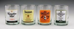 Top Shelf whiskey old fashioned glasses.  From TrueBeer.com.