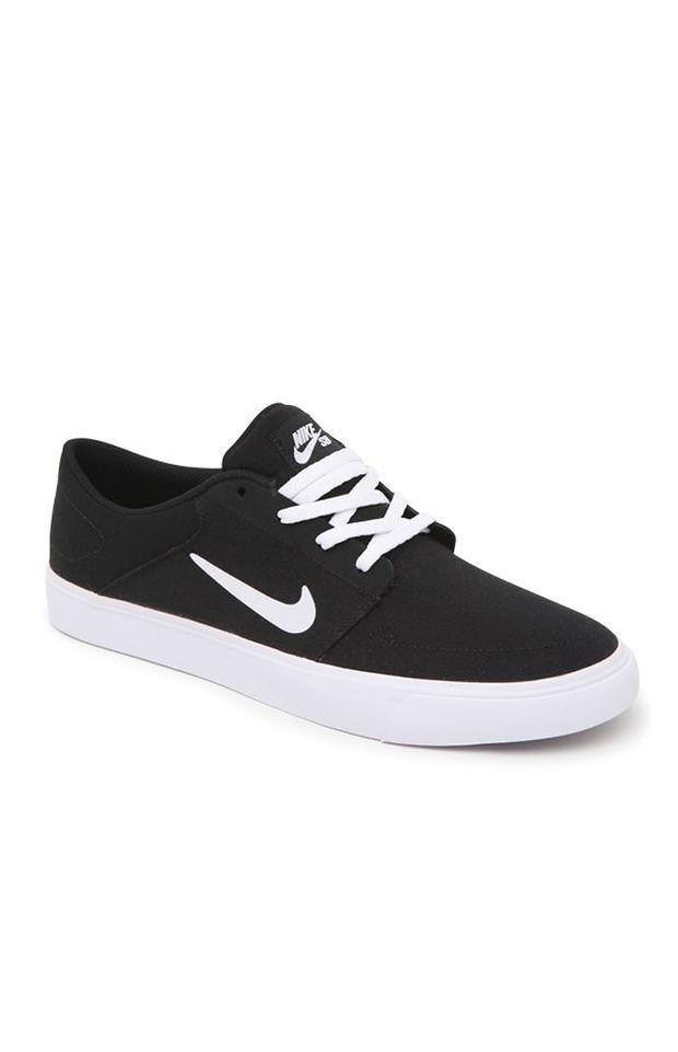 Mens Shoes Nike SB Portmore Canvas Black/White