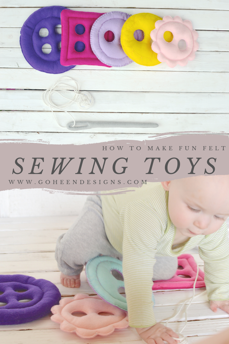 These felt sewing toys are so cute! what an easy DIY and it would be a great gift for a sewist baby shower! #felttoys