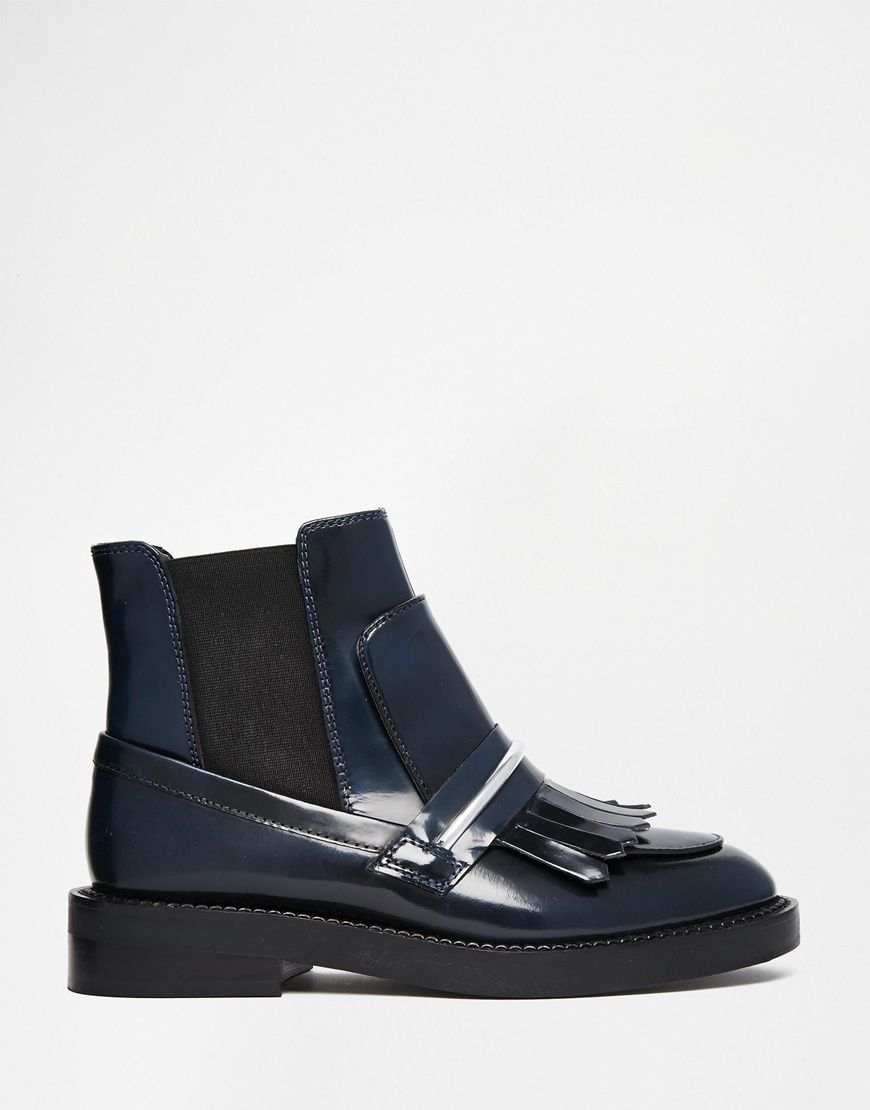 image 2 of asos angelic touch chelsea leather ankle boots | lady's