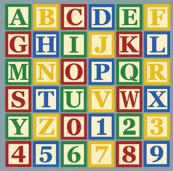 Alphabet Blocks Clipart Abc Blocks Letter Clip Art Abc