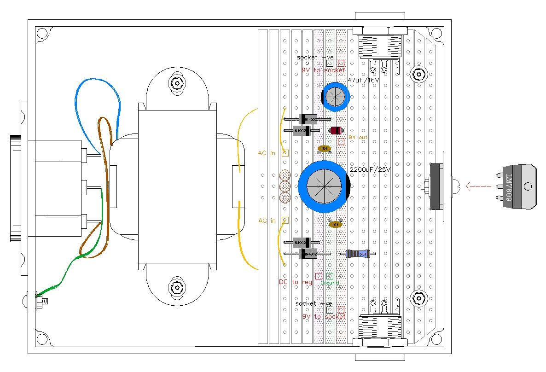 medium resolution of 9 volt guitar pedal regulated power supply