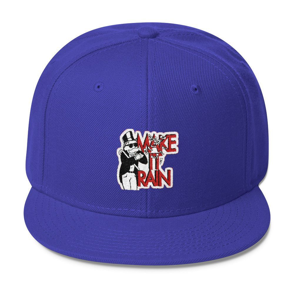 Make It Rain Hat (Wool Blend Snapback)