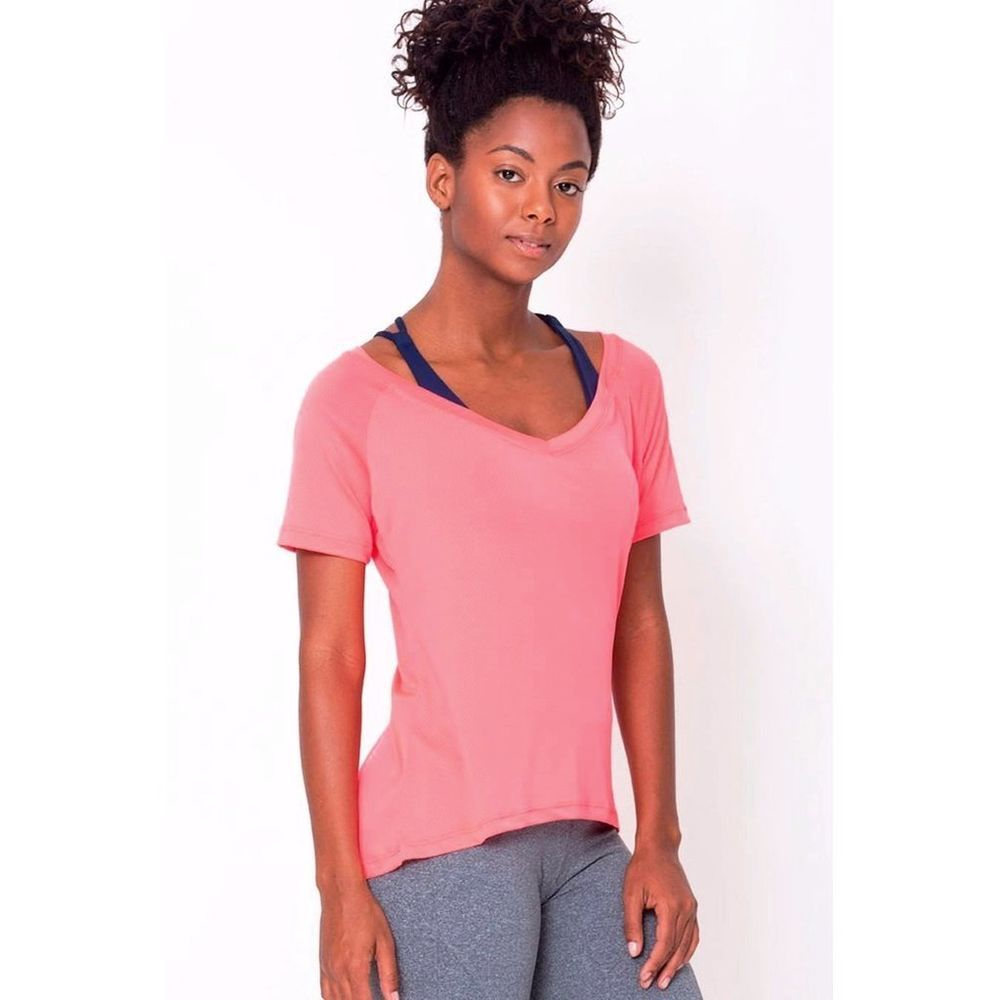 5a220cebe7823 Peach Raglan V-neck Tee  fashion  clothing  shoes  accessories   womensclothing  tops (ebay link)