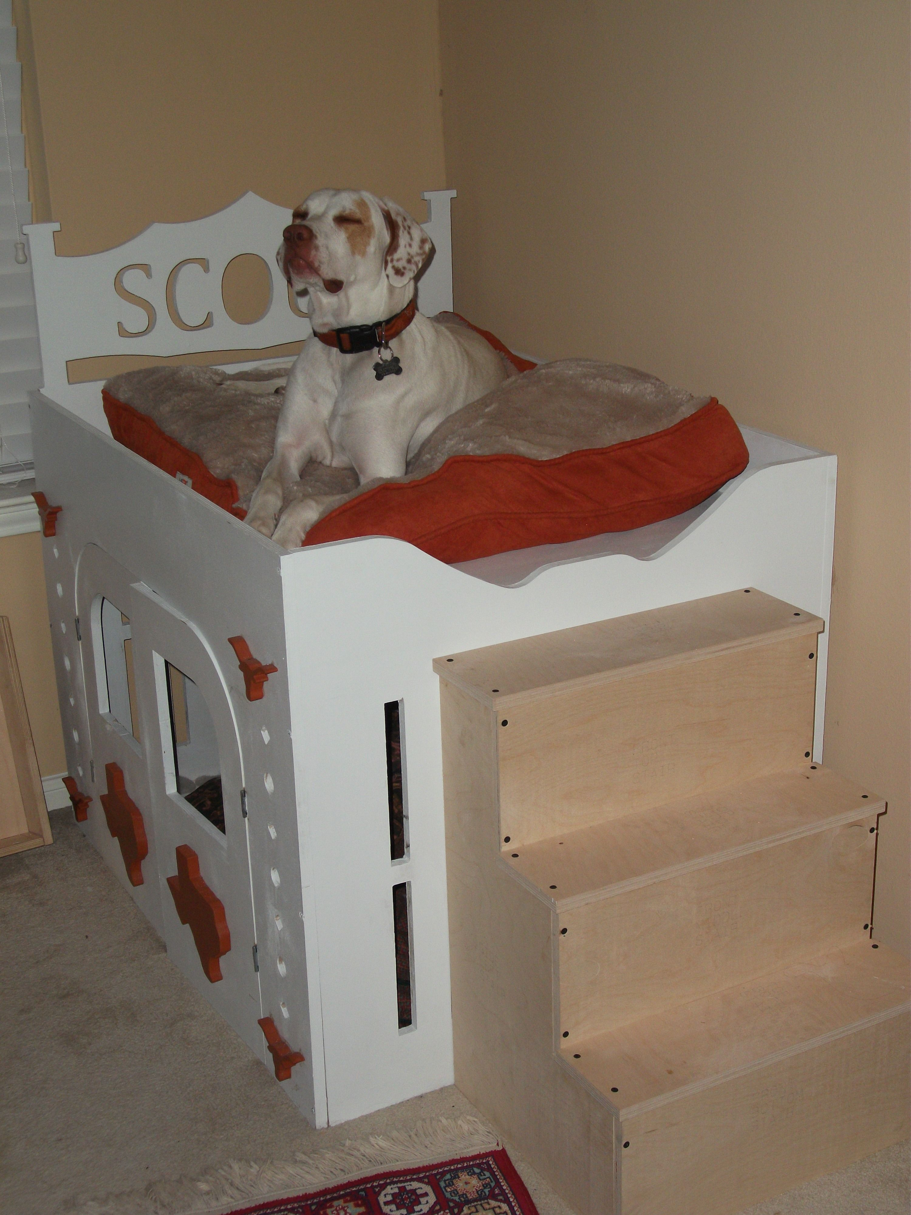 how to build a two room dog house