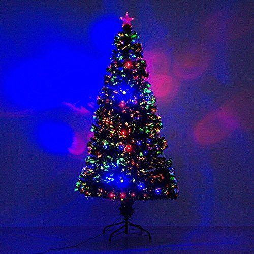 6 Artificial Holiday Fiber Optic Light Up Christmas Tree Green
