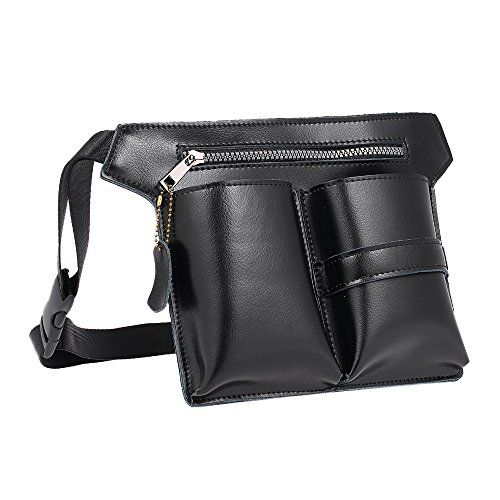 Anself Leather Hair Scissor Holster Hairdressing Pouch