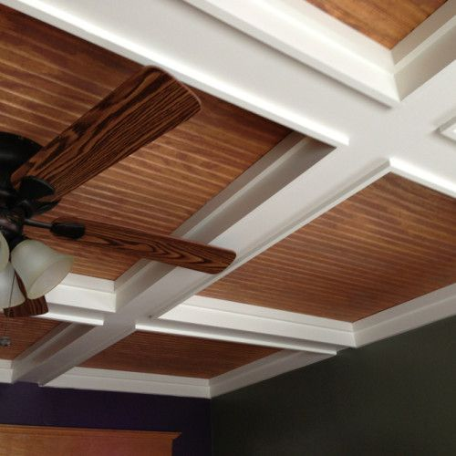 Coffered Ceiling With Beadboard Pop Ceiling Design