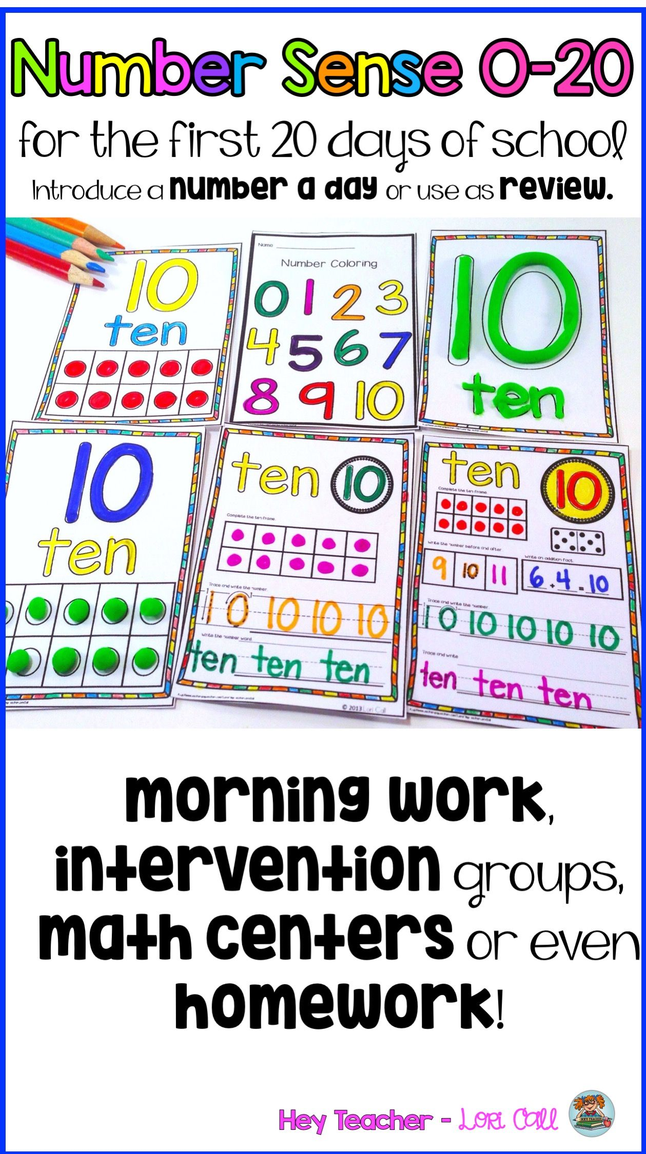 Differentiated Math Number Practice 0 20 For Pre K