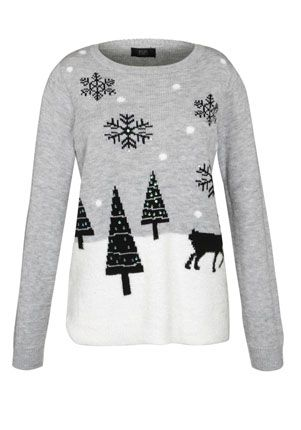 ed664c0c3d89 F&F Winter Scene Jumper £18 | character | Christmas sweaters, Ladies ...