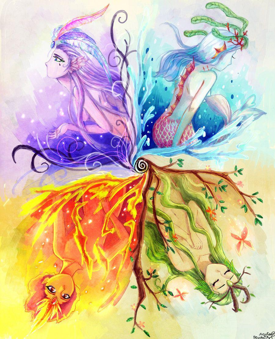 °Quattuor €lementum by Aedjy | Anime art girl, Art ...