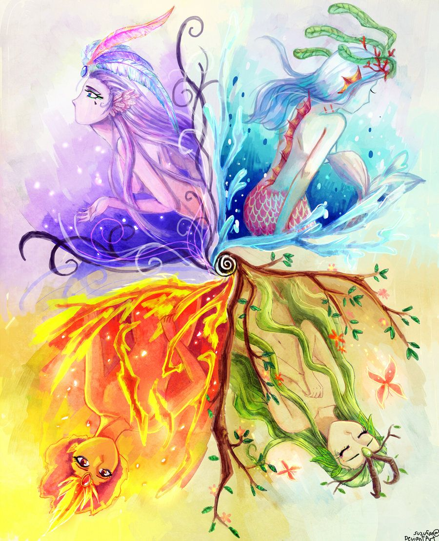 Quattuor Elementum Mythical Creatures Art Creature Art Anime Art Girl