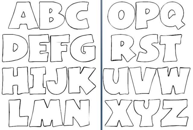 Moldes letras abecedario grandes para imprimir  Docencia