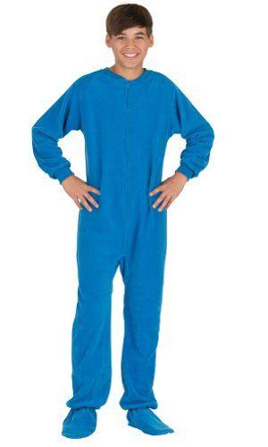 Michael Costume  Footed Pajamas Royal Blue Kids Fleece -  29.95 ... e1064c179